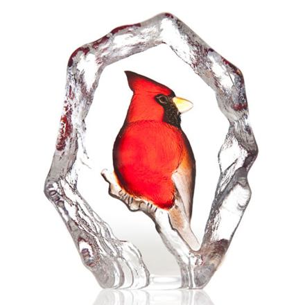 Målerås Glasbruk - Wildlife Kardinalfugl