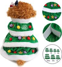 Grüne Weihnachtsbaum Outwear Mantel Haustier Hund Welpen Pullover Kleidung Kostüme Bekleidung