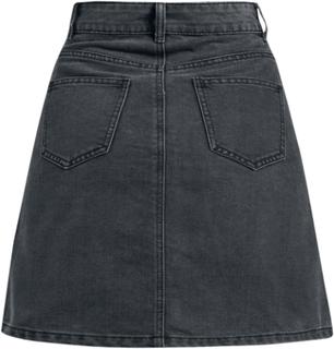 Noisy May - Sunny Short Skater Skirt - Skjørter - svart