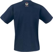 Overwatch - Mercy - Support Has Arrived -T-skjorte - marineblå