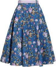 Hell Bunny - Violetta 50´s Skirt -Middellangt skjørt - blå