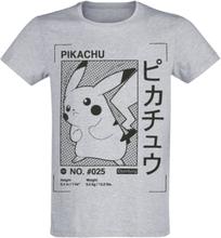 Pokémon - Pikachu -T-skjorte - grå