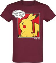 Pokémon - Pikachu - Thinking -T-skjorte - rød