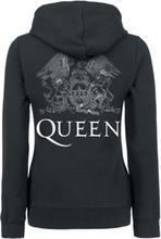 Queen - Crest Vintage -Hettejakke - svart