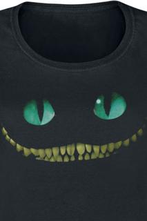 Alice in Wonderland - Filurkaten - Smil -Dameskjorte - svart