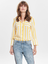 ONLY Striped Long Sleeved Shirt Women White