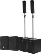 Pakke med 2 x RCF EVOX 8 aktivt høyttalersett og 2 bagger