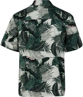 Urban Classics - Pattern Resort Shirt Palm Leaves -Arbeidsskjorte - grønn-hvit