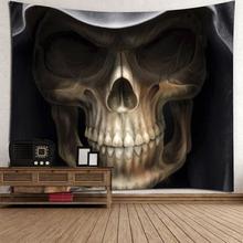 Cartoon Schädel gedruckt Wandbehang Wandteppich Halloween Home Decor Polyester Matte Handtücher