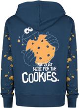 Sesam Stasjon - Krümelmonster - Cookies -Hettejakke - marineblå