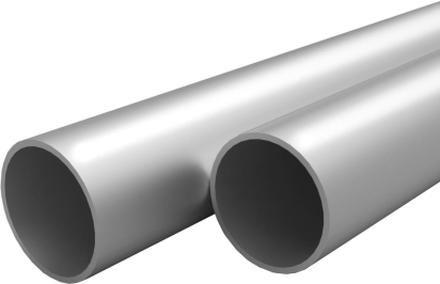 vidaXL Aluminiumrör 4 st rund 1m 30mm