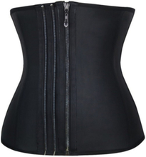 9 Steel Bone Zipper Latex Corset