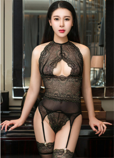 Luxurious Lace Bustier Set with Stay ups