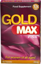 Gold Max Pink 10 kapsler for kvinner-mer begjær
