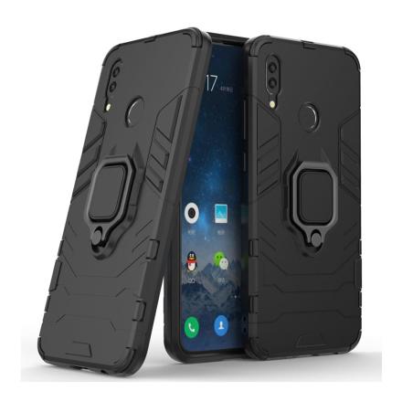 Huawei P Smart 2019 cool guard kickstand hybrid case - Black