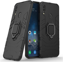 Huawei P Smart 2019 cool guard kickstand hybrid case - Black