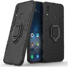 Huawei P Smart 2019 Kul Guard Hybrid Etui Med Handsfree-Støtte - Svart