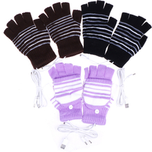 1pair usb heated gloves winter thermal hand warmer electric heat