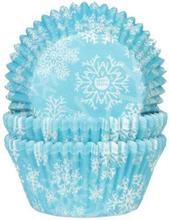 Blå Muffinsformar 50st Snöflingor Stjärnor Jul Julmuffins - House of Marie