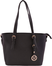 Medelstor handväska svart