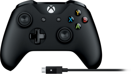 Langaton Xbox-ohjain ja Windows-kaapeli