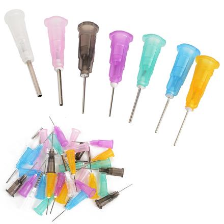 35pcs/lot Dispensing Needles Tips for Liquid Dispenser Syringe 16GA, 18GA, 21GA, 22GA, 23GA, 24GA, 25GA Gauge