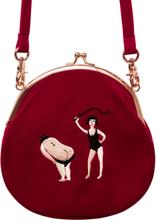HOT! YIZI women Vintage bag Velvet Embroidery Women Messenger Bags In Semi-circle Round Shape Original Designed