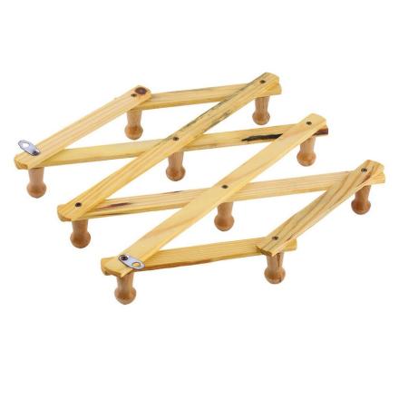 Solid Wooden Hanger Expandable Wooden Coat Rack Hat Hook Expanding Fold NEW. Wholesale