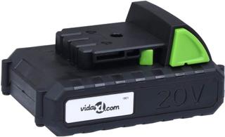 Vidaxl Batteripack 20v 1500 Mah Li-ion Svart