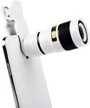 Universal 8X Optical Zoom Telescope Camera Lens Clip Mobile Phone Telescope for Xiaomi / Huawei / Samsung / iPhone