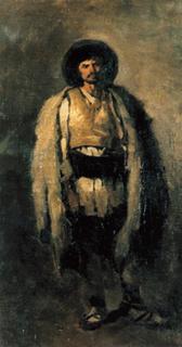Shepherd,Nicolae Grigorescu,56x33.5cm