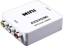 Mini Full HD 1080p RCA AV / HDMI Konverter - Hvid