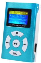 Trendy MP3-afspiller med LCD-skærm - Blå