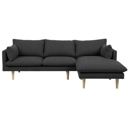 Freja - Mørkegrå Chaiselong Sofa (Højrevendt)