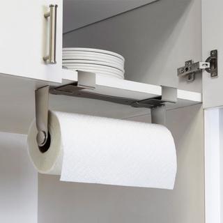 Hushållspappershållare för skåp och hylla