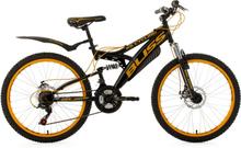 Ungdomscykeln Mountainbike Fully 24 Bliss svart-gul RH 38 cm KS Cycling