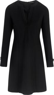 Långärmad jerseyklänning från Strenesse svart