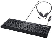 KB950 Phone - keyboard and headset set - with display - Nordic - Keyboard and headset set - Svart