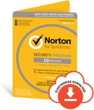 Norton Security Premium - 10 enheter + 25 GB Backup