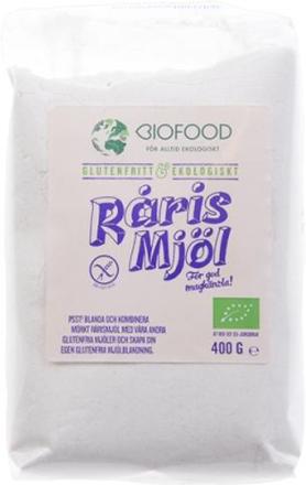 Biofood Rårismjöl 400 g
