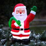 Julig steckfigur LED Santa på pinne