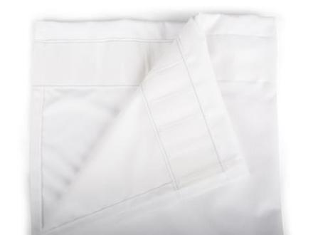 Form Living Gardin Velvet med veckband Polyester 300x140cm Vit
