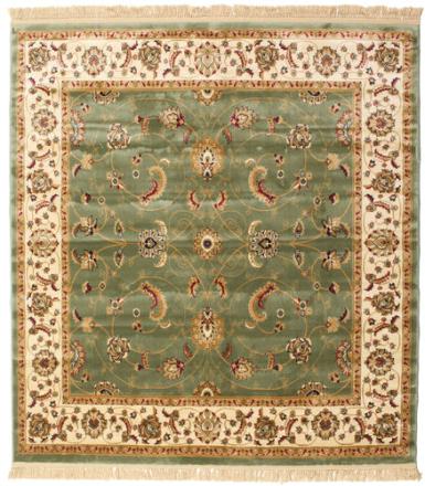 Sarina - Grön matta 200x200 Orientalisk, Kvadratisk Matta