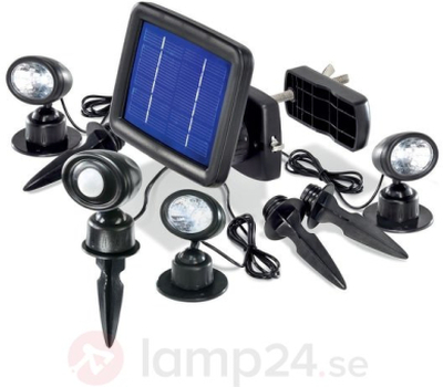Trio PIR solarspotlight i 3-pack