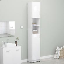 Badeværelsesskab 32x25,5x190 cm spånplade hvid højglans