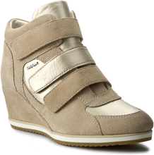 Sneakers GEOX - D Illusion D D7254D 022BV CH62L Lt Taupe/Lt Gold