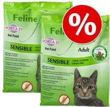 Sparpaket: 2 x 10 bzw. 2 kg Porta 21 Katzentrockenfutter - Feline Finest Kitten (2 x 2 kg)