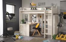 Higher Loftseng med skrivebord og garderobe