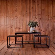 Urban Living Metalen Salon tafel met 2 bijzettafels