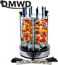 Electric BBQ Kebab Grill Machine Automatic Rotating Barbecue Smokeless Oven Rotisserie Roast Domestic Lamb Skewers Heating Stove
